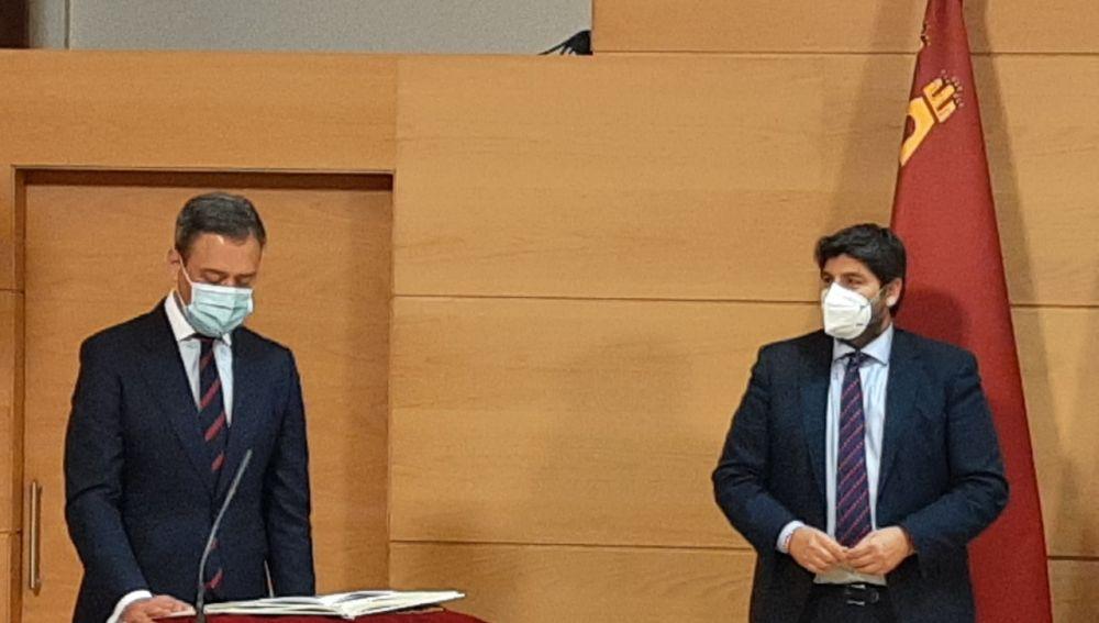 Marcos Ortuño toma posesión como Consejero de Presidencia, Turismo y Deportes