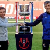 Marcelino y Alguacil con la Copa del Rey