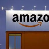 La fachada de un edificio de Amazon