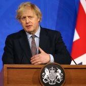 El primer ministro del Reino Unido, Boris Johnson, en una comparecencia el pasado 29 de marzo
