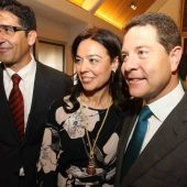 Zamora junto a Caballero y García-Page cuando fue elegida por primera vez alcaldesa de Ciudad Real
