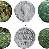 Primera moneda bizantina en Ceuta.
