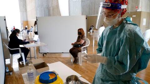 Dispositivo de vacunación instalado en el Palacio de Exposiciones