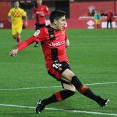 Fran Gámez durante un partido de Liga