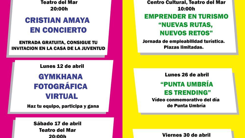 Programación juvenil en Punta Umbría