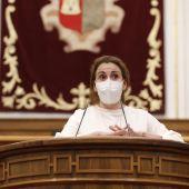 Úrsula López durante una comparecencia en las Cortes de CLM