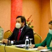 Núñez y Gamarra durante la jornada de trabajo que el PP ha celebrado en Ciudad Real