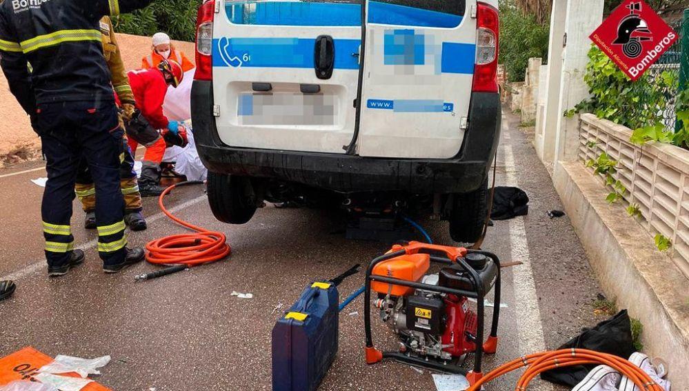 La víctima es atendida tras ser rescatada