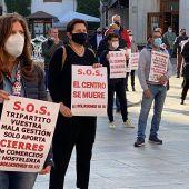"""El comercio castellonense sale a la calle para denunciar su situación: """"el centro se muere""""."""