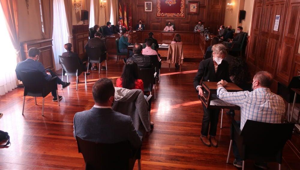 Imagen del pleno en el que se han votado las distinciones