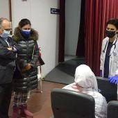 Punto de vacunación de la Ciudad Autónoma de Ceuta.