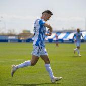 El jugador del Atlético Baleares, Alberto Gil, durante un partido