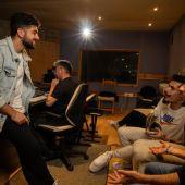 Gonzalo Alhambra, en su estudio de grabación