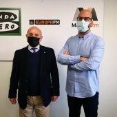 El presidente de la Asociación de Industriales de Mallorca (ASIMA) Francisco Martorell acompaña al periodista de Onda Cero Illes Balears Martí Rodríguez.