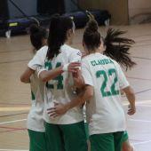 Jugadoras del Clínica Blasco Joventut d'elx celebran un gol.