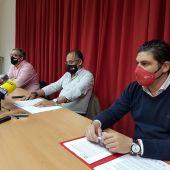 Rueda de prensa de los sindicatos en Puertollano