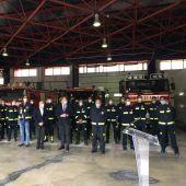 Toma de posesión de los 16 nuevos bomberos del cuerpo municipal de Albacete.