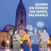 Oviedo se adhiere a la campaña para que Asturias esté libre de humo de tabaco