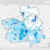 Mapa evolución por municipios datos COVID-19