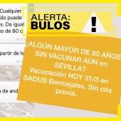 Bulo vacunación Sevilla