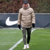 El entrenador del Atlético de Madrid, Diego Simeone