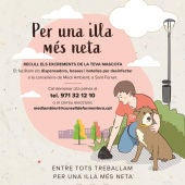 El Consell de Formentera reparte dispensadores y botellas a los propietarios de perros