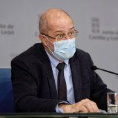 El vicepresidente y portavoz de la Junta de Castilla y León, Francisco Igea durante la rueda de prensa