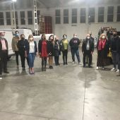 La alcaldesa reunida con empresarios locales