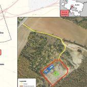 Mapa que indica el lugar del sondeo en Subijana