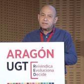 Daniel Alastuey, durante el Congreso de UGT Aragón