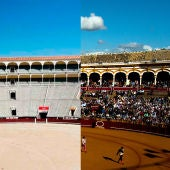 Plaza de toros de Madrid y la de Sevilla