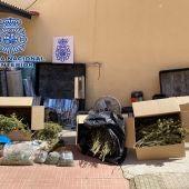 Material incautado por la Policía Nacional