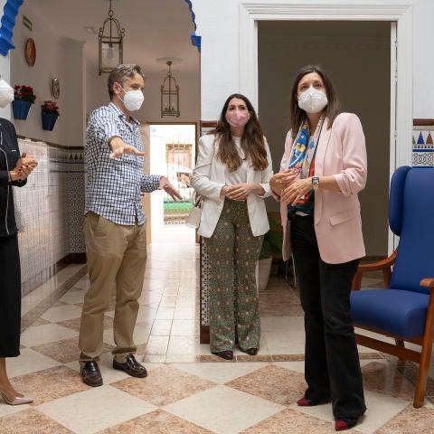 Instantes de la visita al nuevo centro asistencial de San Fernando