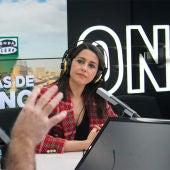 Inés Arrimadas durante la entrevista con Carlos Alsina