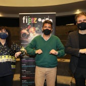 Parra, Mazón y Vicent en la presentación de Fijazz 2021
