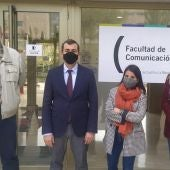 Luisma Calvo (izq), José María Herranz, Azahara Cañedo y María José Ufarte