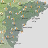 Mapa de símbolos el jueves a las 15.00 horas