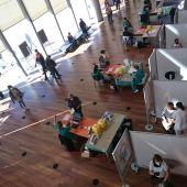 Vacunación en el Centro Cultural Miguel Delibes