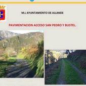 El Ayto licita la obras de pavimentado de los accesos a San Pedro de Lago y Bustel