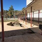 """El arreglo de esta avería, a 18 metros de profundidad en el patio del colegio """"Astrana Marín"""", podría costar unos 2 millones de euros según el Consistorio"""
