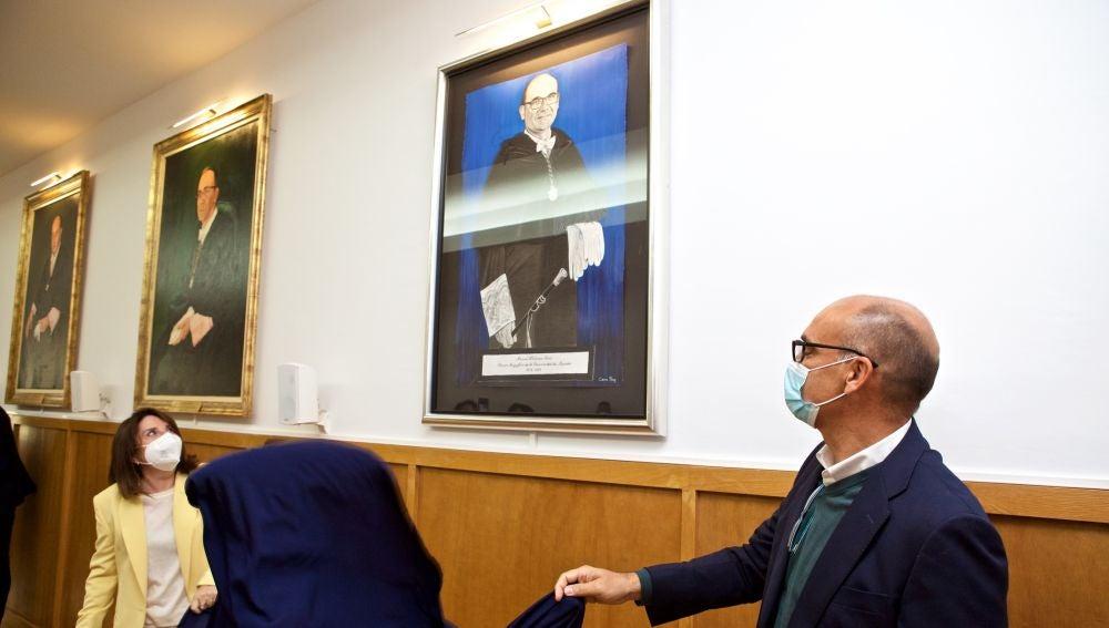 La rectora Amparo Navarro y Manuel Palomar