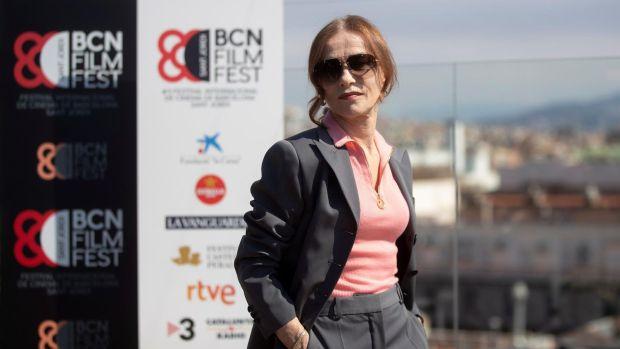 La actriz francesa Isabelle Huppert, durante su visita a Barcelona en el marco del BCN Film Fest