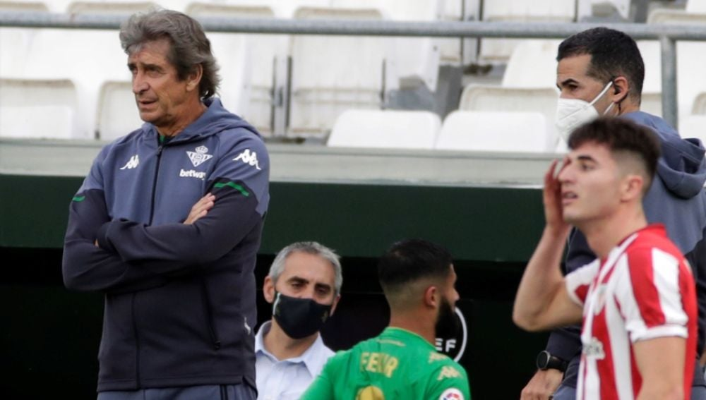 Manuel Pellegrini, durante el Betis-Athletic.