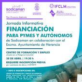 Ayuntamiento y Sodicaman organizan una Jornada Informativa sobre financiación para pymes y autónomos