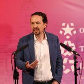 Pablo Iglesias durante el debate electoral de Madrid