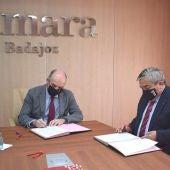 La Cámara de Comercio de Badajoz y la UEx firman un convenio para poner en marcha acciones formativas conjuntas