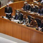 Lambán ha intervenido en la sesión de control al Gobierno en las Cortes