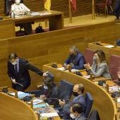 Corts Valencianes sessió de control