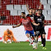 Antonio Puertas celebra su gol ante el Eibar