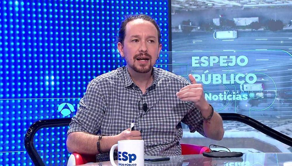 Pablo Iglesias en Espejo Público.